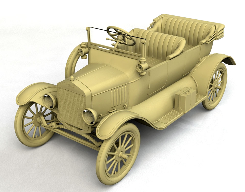 T型フォード 1917 オーストラリア陸軍 スタッフカープラモデル(ICM1/35 ミリタリービークル・フィギュアNo.35667)商品画像_2