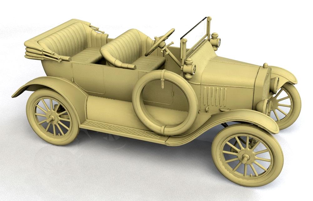 T型フォード 1917 オーストラリア陸軍 スタッフカープラモデル(ICM1/35 ミリタリービークル・フィギュアNo.35667)商品画像_3