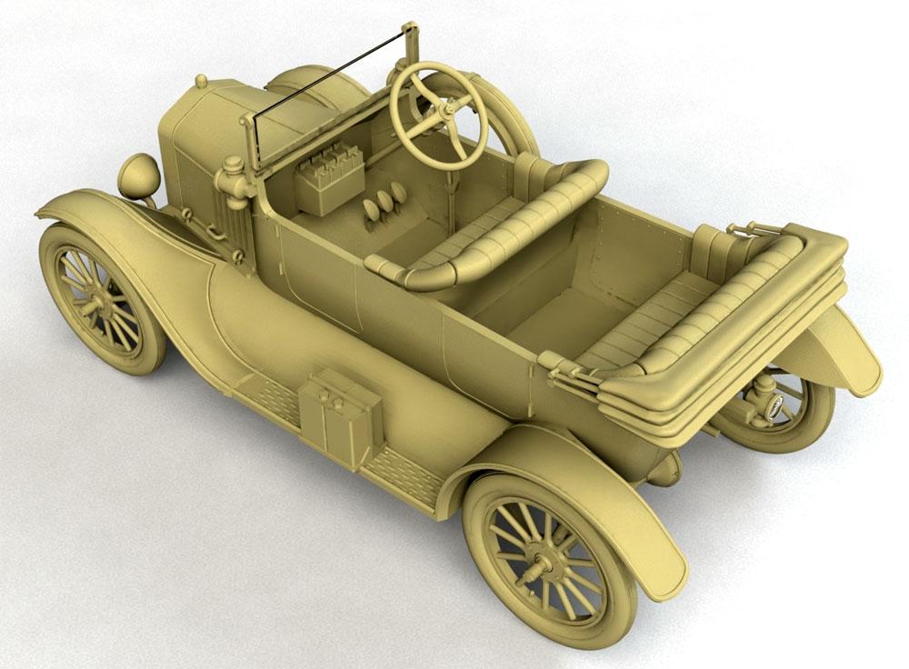 T型フォード 1917 オーストラリア陸軍 スタッフカープラモデル(ICM1/35 ミリタリービークル・フィギュアNo.35667)商品画像_4