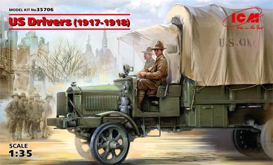 US ドライバーズ 1917-1918プラモデル(ICM1/35 ミリタリービークル・フィギュアNo.35706)商品画像