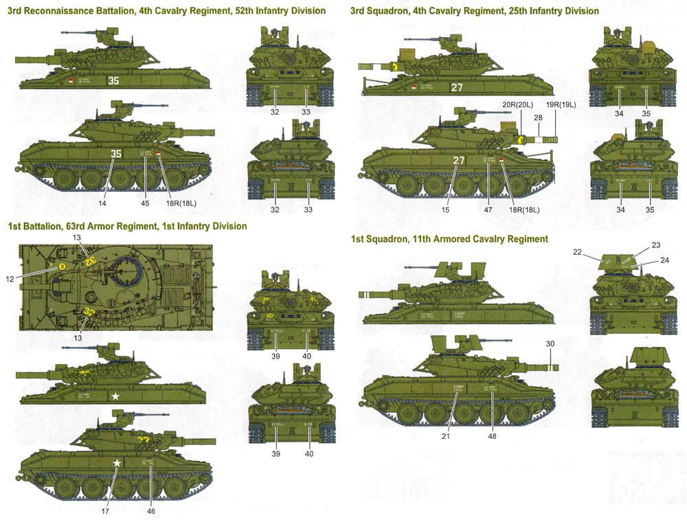 M551 シェリダン ベトナム戦争 デカールセット 1デカール(フォックスモデル (FOX MODELS)AFVデカールNo.D035026)商品画像_2