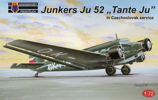 ユンカース Ju52 タンテ・ユー チェコスロバキアプラモデル(KPモデル1/72 エアクラフト プラモデルNo.KPM0127)商品画像