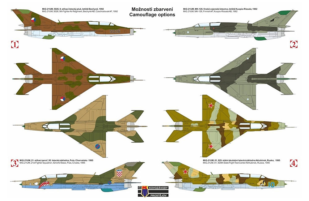 MiG-21UM モンゴルB パート2プラモデル(KPモデル1/72 エアクラフト プラモデルNo.KPM0132)商品画像_1