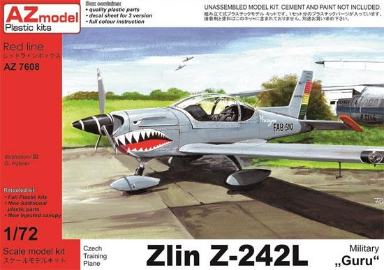 ズリーン Z-242L 練習機プラモデル(AZ model1/72 エアクラフト プラモデルNo.AZ7608)商品画像