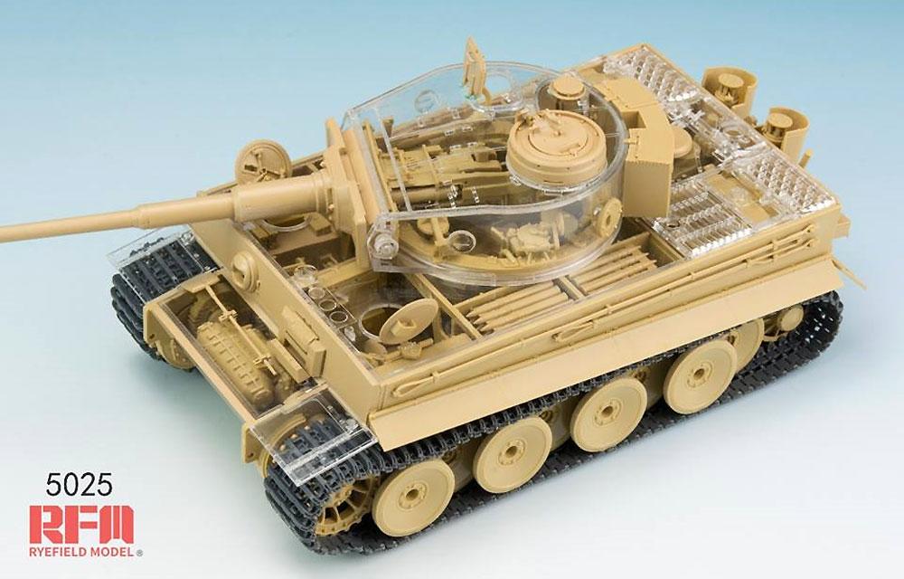 ドイツ重戦車 タイガー 1 前期型 ミハエル・ヴィットマン w/フルインテリア & クリアパーツプラモデル(ライ フィールド モデル1/35 Military Miniature SeriesNo.5025)商品画像_3