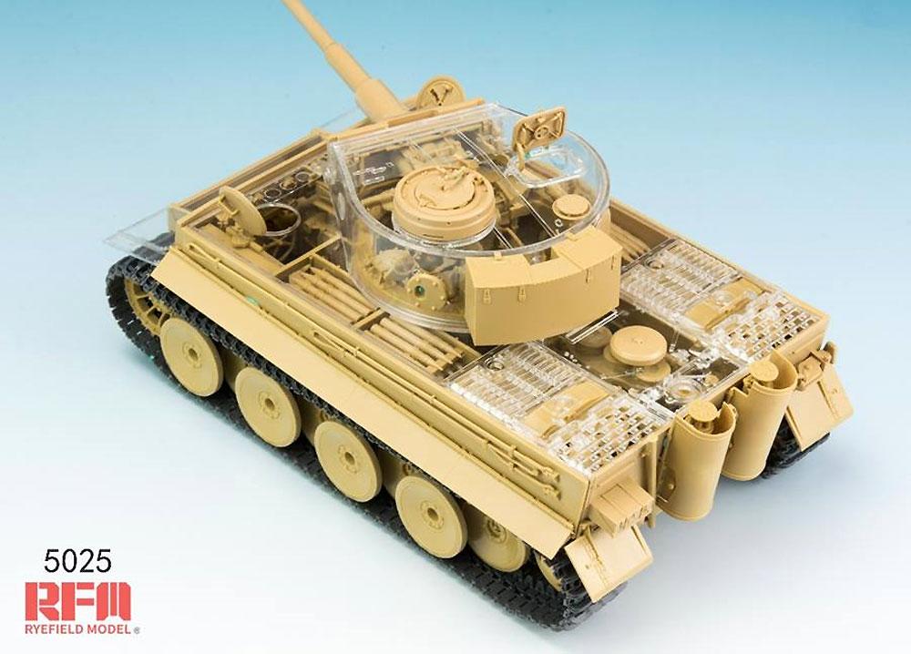 ドイツ重戦車 タイガー 1 前期型 ミハエル・ヴィットマン w/フルインテリア & クリアパーツプラモデル(ライ フィールド モデル1/35 Military Miniature SeriesNo.5025)商品画像_4