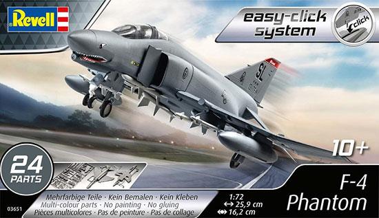F-4E ファントムプラモデル(レベル1/72 飛行機No.03651)商品画像