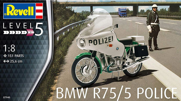 BMW R75/5 ポリスプラモデル(レベルバイクモデルNo.07940)商品画像