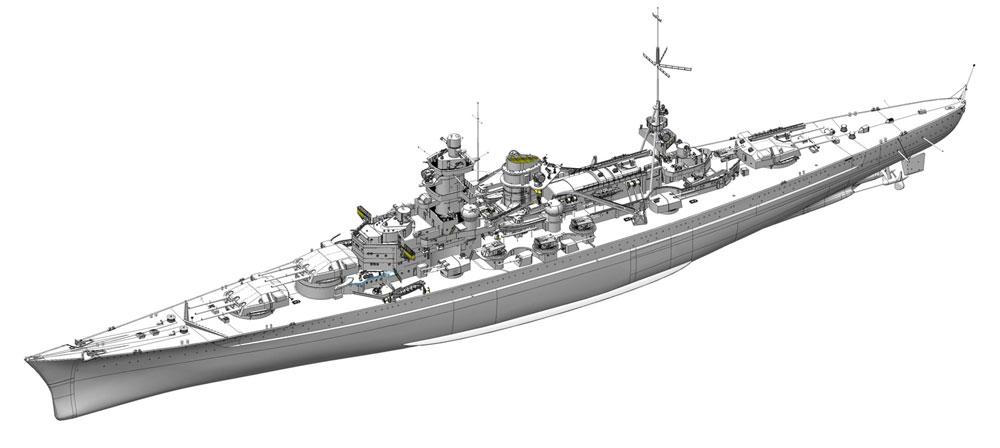 ドイツ海軍 巡洋戦艦 シャルンホルスト 1940 ノルウェー沖プラモデル(ドラゴン1/350 Modern Sea Power SeriesNo.1062)商品画像_1
