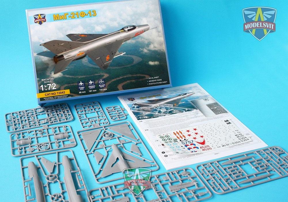 MiG-21F-13プラモデル(モデルズビット1/72 エアクラフト プラモデルNo.72042)商品画像_1