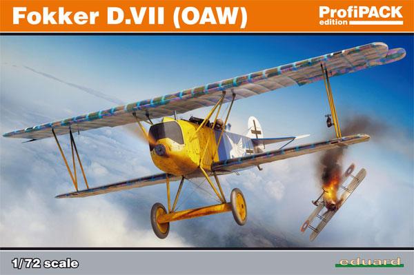 フォッカー D.7 OAWプラモデル(エデュアルド1/72 プロフィパックNo.70131)商品画像