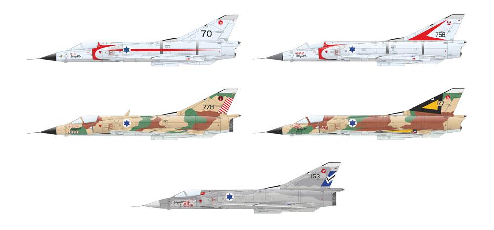 シャハク ミラージュ 3CJ イスラエル空軍プラモデル(エデュアルド1/48 リミテッドエディションNo.11128)商品画像_3