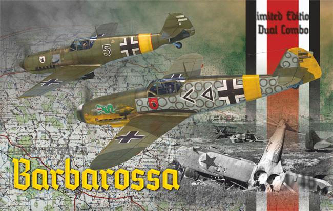 バルバロッサ作戦 Bf109E-4/E-7 & 109F-2 東部戦線 1941プラモデル(エデュアルド1/48 リミテッドエディションNo.11127)商品画像