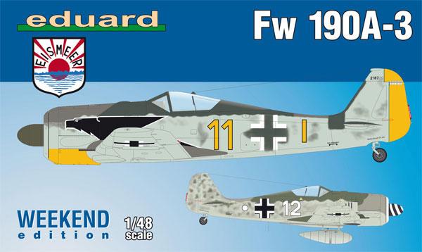 フォッケウルフ Fw190A-3プラモデル(エデュアルド1/48 ウィークエンド エディションNo.84112)商品画像
