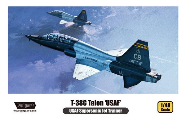 T-38C タロン アメリカ空軍プラモデル(ウルフパックウルフパックデザイン キット シリーズNo.WP10007)商品画像