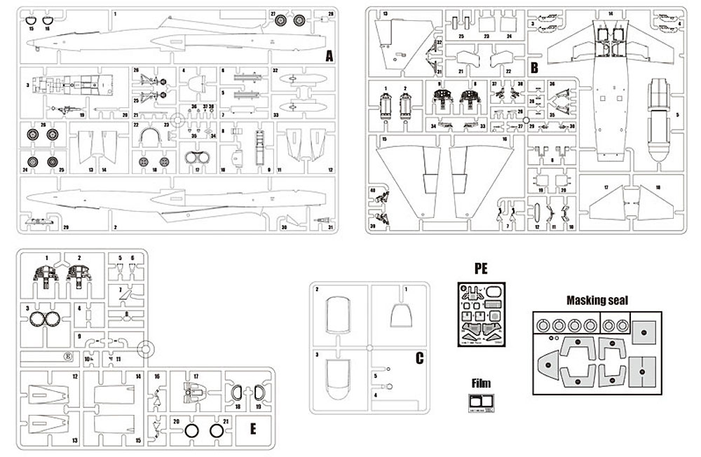 T-38C タロン アメリカ空軍プラモデル(ウルフパックウルフパックデザイン キット シリーズNo.WP10007)商品画像_1