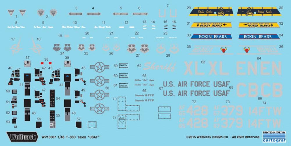 T-38C タロン アメリカ空軍プラモデル(ウルフパックウルフパックデザイン キット シリーズNo.WP10007)商品画像_2