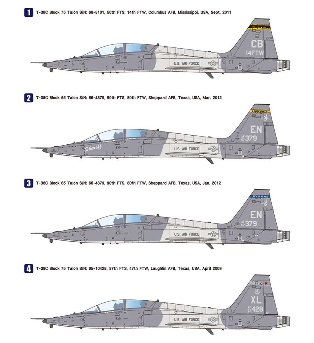 T-38C タロン アメリカ空軍プラモデル(ウルフパックウルフパックデザイン キット シリーズNo.WP10007)商品画像_3