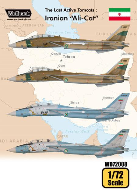 トムキャット最後の稼働機 イラン空軍 アリキャットデカール(ウルフパック1/72 デカール (WD)No.WD72008)商品画像