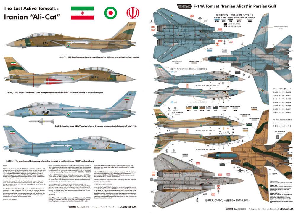 トムキャット最後の稼働機 イラン空軍 アリキャットデカール(ウルフパック1/72 デカール (WD)No.WD72008)商品画像_2