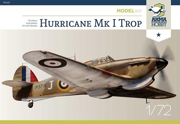 ホーカー ハリケーン Mk.1 Tropプラモデル(アルマホビー1/72 エアクラフト プラモデルNo.70021)商品画像