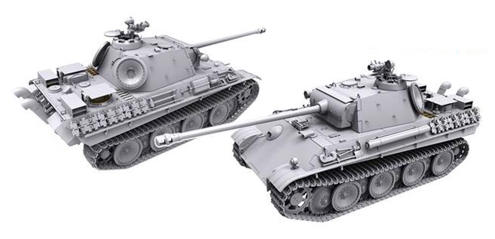 パンター G型 後期型 w/赤外線暗視装置 & 対空追加装甲 フルインテリアプラモデル(タコム1/35 ミリタリーNo.2121)商品画像_2