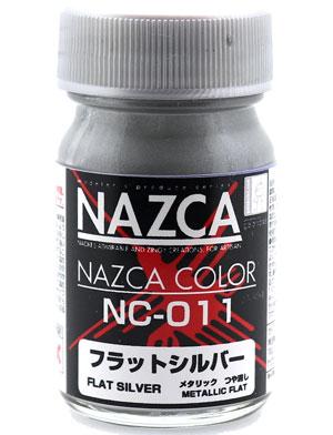 NC-011 フラットシルバー塗料(ガイアノーツNAZCA カラーシリーズNo.30728)商品画像