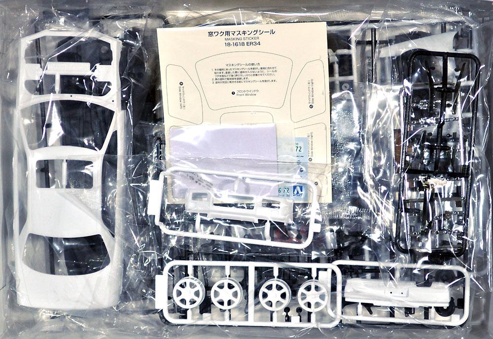 ニッサン ER34 スカイライン 25GT-X ターボ '98プラモデル(アオシマ1/24 ザ・モデルカーNo.098)商品画像_1