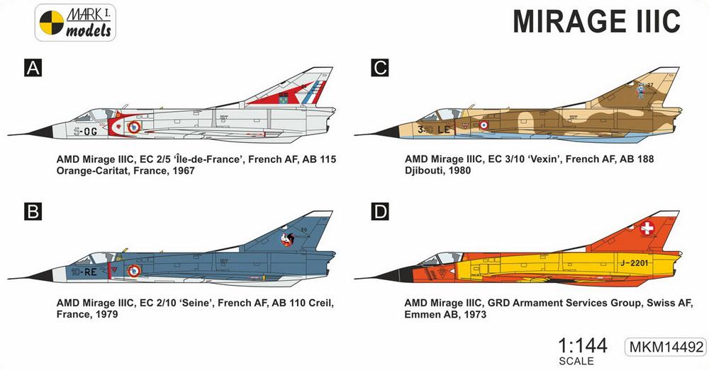 ミラージュ 3Cプラモデル(MARK 1MARK 1 modelsNo.MKM14492)商品画像_1