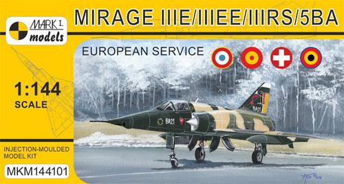 ミラージュ 3E/3EE/3RS/5BAプラモデル(MARK 1MARK 1 modelsNo.MKM144101)商品画像