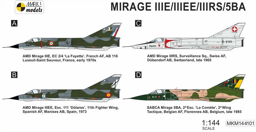 ミラージュ 3E/3EE/3RS/5BAプラモデル(MARK 1MARK 1 modelsNo.MKM144101)商品画像_1