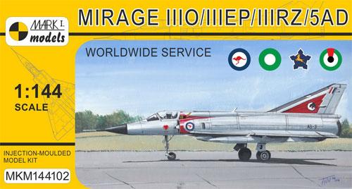 ミラージュ 3O/3EP/3RZ/5ADプラモデル(MARK 1MARK 1 modelsNo.MKM144102)商品画像