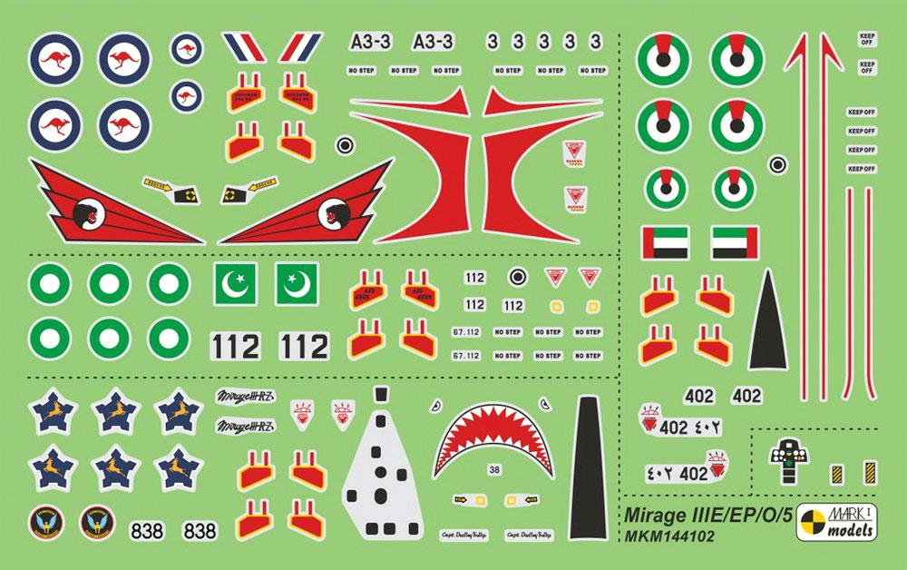 ミラージュ 3O/3EP/3RZ/5ADプラモデル(MARK 1MARK 1 modelsNo.MKM144102)商品画像_2