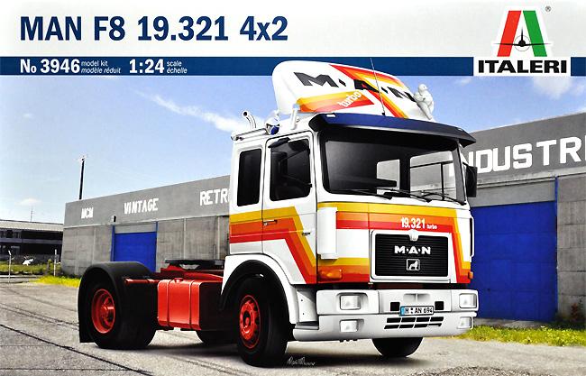 マン F8 19.321 4×2 トラックプラモデル(イタレリ1/24 トラックシリーズNo.3946)商品画像