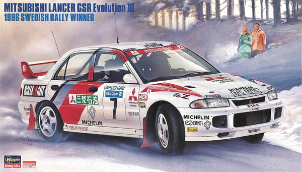 三菱 ランサー GSR エボリューション 3 1996 スウェディッシュ ラリー ウィナープラモデル(ハセガワ1/24 自動車 限定生産No.20407)商品画像