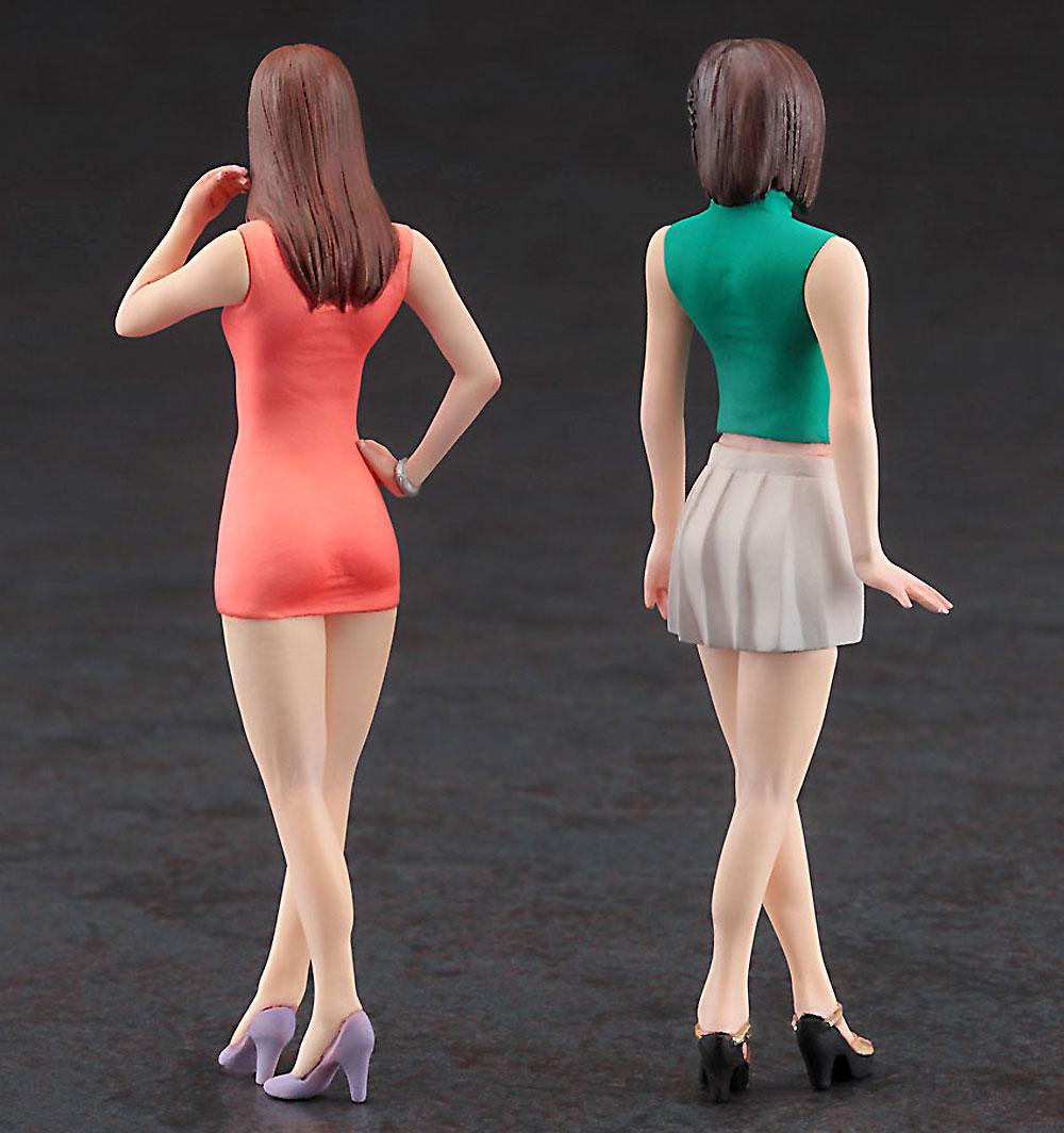 ファッションモデル ガールズ フィギュアプラモデル(ハセガワ1/24 フィギュアコレクションNo.004)商品画像_3