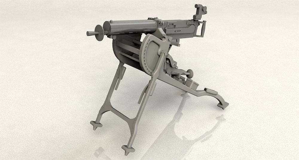 ドイツ MG08 重機関銃プラモデル(ICM1/35 ミリタリービークル・フィギュアNo.35710)商品画像_2
