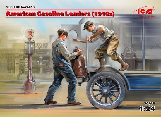 アメリカ ガソリン配達員 1910年代プラモデル(ICM1/24 フィギュアNo.24018)商品画像