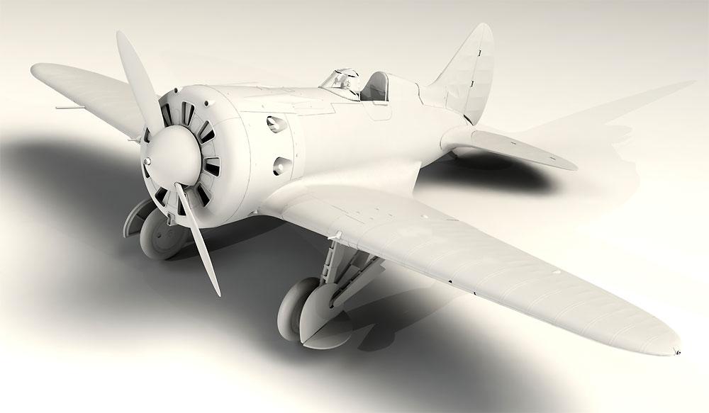ポリカルポフ I-16 タイプ10プラモデル(ICM1/32 エアクラフトNo.32004)商品画像_2
