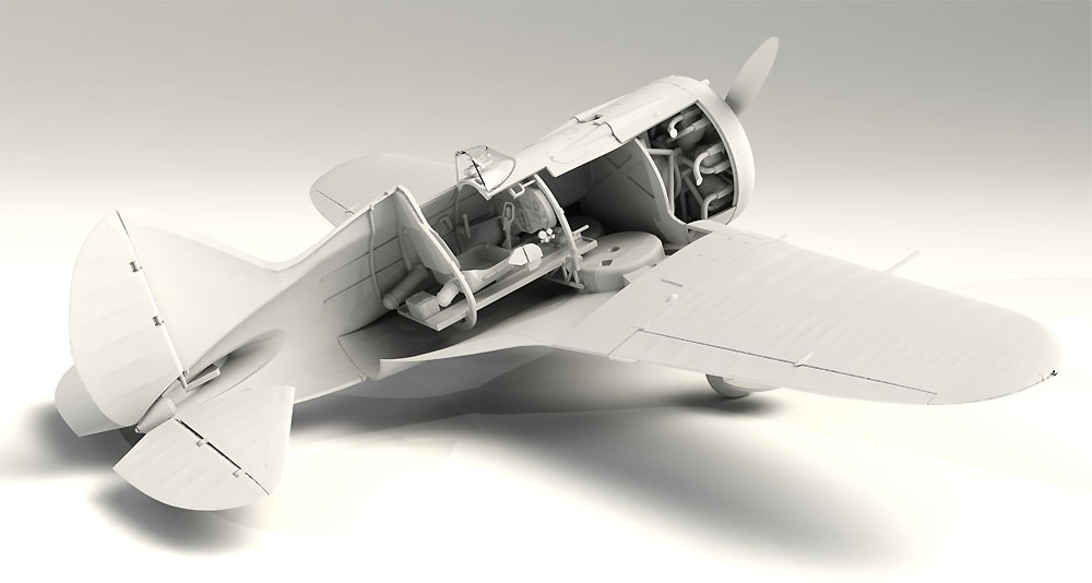 ポリカルポフ I-16 タイプ10プラモデル(ICM1/32 エアクラフトNo.32004)商品画像_3