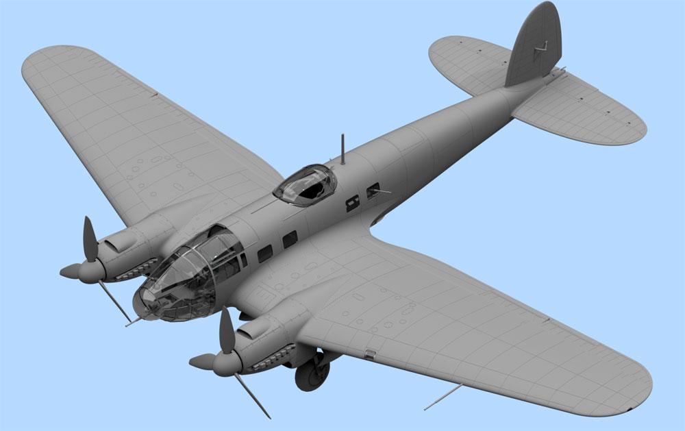 ハインケル He111H-6 爆撃機 北アフリカプラモデル(ICM1/48 エアクラフト プラモデルNo.48265)商品画像_2