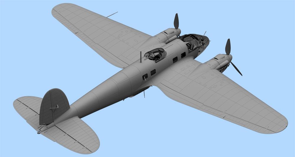 ハインケル He111H-6 爆撃機 北アフリカプラモデル(ICM1/48 エアクラフト プラモデルNo.48265)商品画像_3