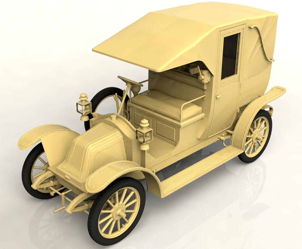 ルノー タイプ AG 1910年 パリ タクシープラモデル(ICM1/24 カーモデルNo.24030)商品画像_2