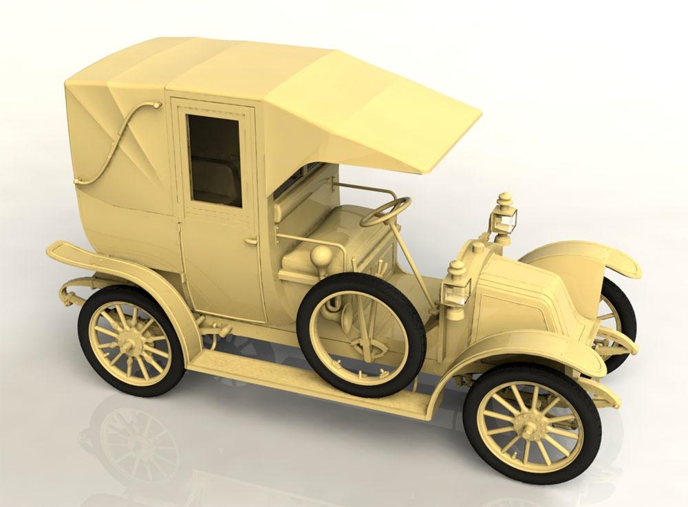 ルノー タイプ AG 1910年 パリ タクシープラモデル(ICM1/24 カーモデルNo.24030)商品画像_3
