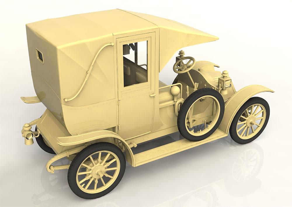 ルノー タイプ AG 1910年 パリ タクシープラモデル(ICM1/24 カーモデルNo.24030)商品画像_4