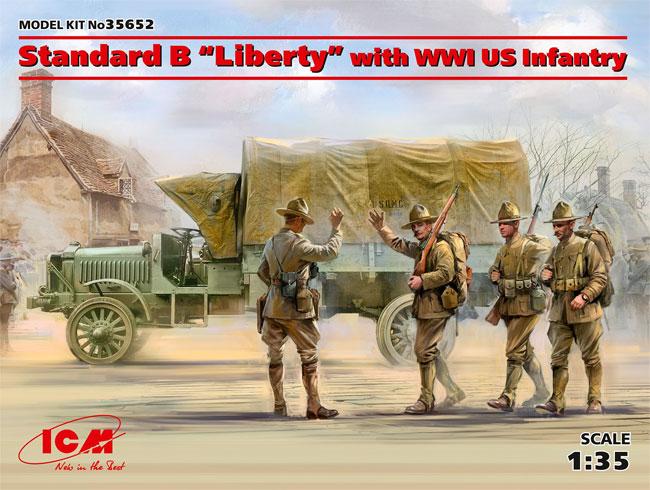 スタンダード B リバティ トラック w/WW1 アメリカ歩兵プラモデル(ICM1/35 ミリタリービークル・フィギュアNo.35652)商品画像