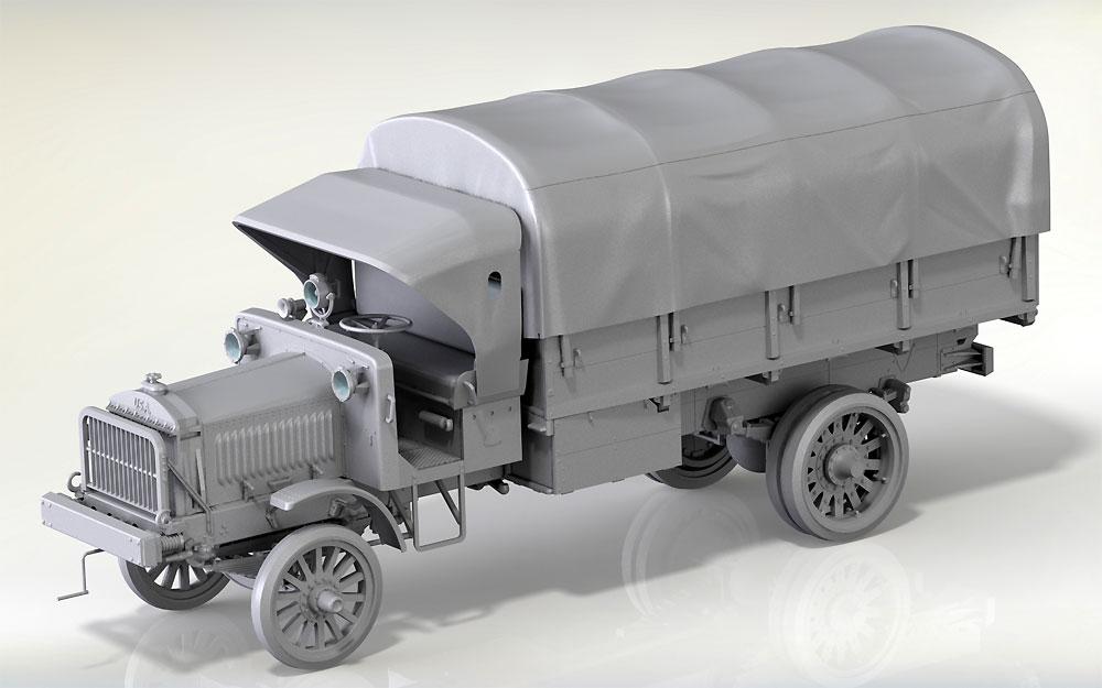 スタンダード B リバティ トラック w/WW1 アメリカ歩兵プラモデル(ICM1/35 ミリタリービークル・フィギュアNo.35652)商品画像_1