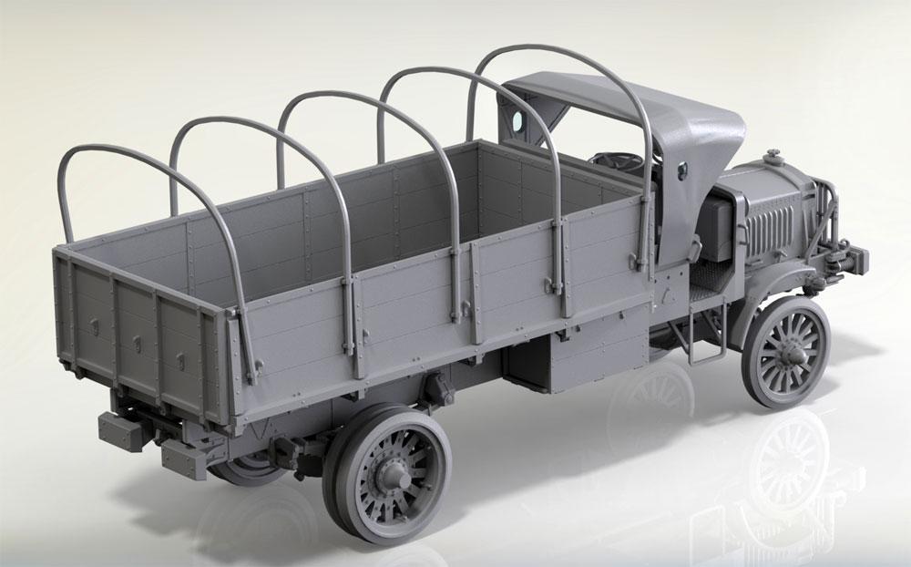スタンダード B リバティ トラック w/WW1 アメリカ歩兵プラモデル(ICM1/35 ミリタリービークル・フィギュアNo.35652)商品画像_2