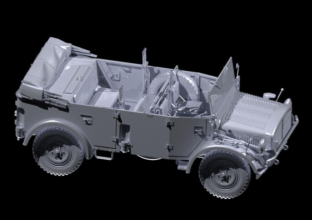 ドイツ国防軍 オフロード車両セット (Kfz.1、ホルヒ108 Typ40、L1500A)プラモデル(ICMダイオラマセットNo.DS3503)商品画像_2