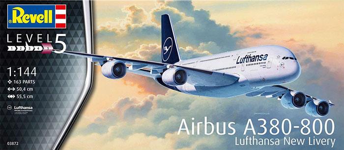エアバス A380-800 ルフトハンザ New Liveryプラモデル(レベル1/144 旅客機No.03872)商品画像